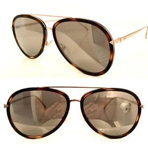 Fendi Aviator FF 0155 V4Z Havana Gold Sunglasses